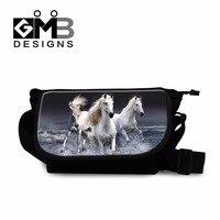 Horse 3D Printed Cross Body Satchel Bags College Student School Messenger Bookbags Best Canvas Handbag For