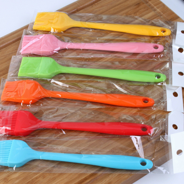 Hoomall Multi Color Silicone Basting Pastry Brush Oil Brushes For Cake Bread Butter Baking Tools Kitchen Safety BBQ Brush 21*3cm