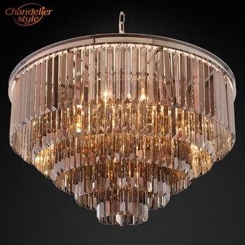 Lámpara de prisma de Cristal moderno iluminación Vintage de lujo candelabros de Cristal colgantes accesorios de luz para la decoración del Hotel del hogar