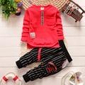 2016 outono bebê menino roupas de manga Longa Top + calça 2 pcs terno esporte roupa do bebê set bebê recém-nascido roupas bebe