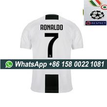 2019 Juventus soccer jersey with all patches RONALDO 7# DYBALA 18-19 Juventus Football shirt Size S-XL(China)
