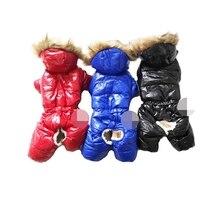 Толстовки, комбинезон для собак, утепленное хлопковое пальто для щенков, зимняя одежда для домашних животных, теплая куртка, S-XXL для холодной погоды в России