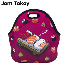 Jom Tokoy Sushi Thermal Insulated 3d print Lunch Bags for Women Kids Bag Box Food Picnic Tote Handbags