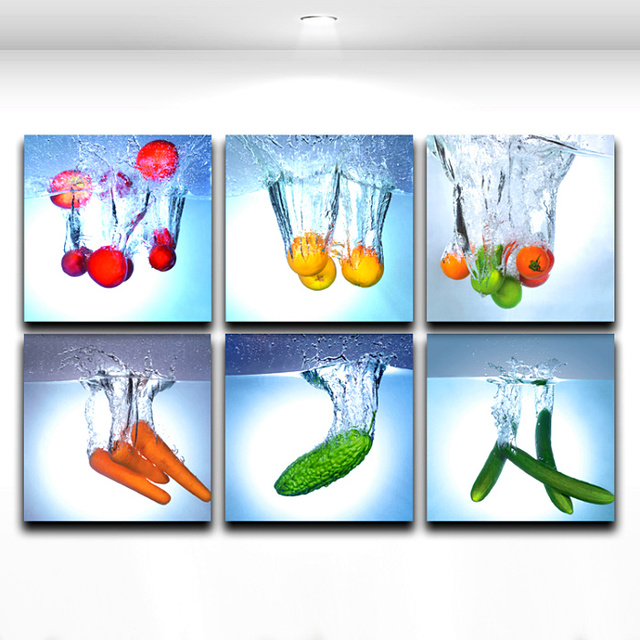 Art For The Kitchen Outdoor Grills Aliexpress Com Buy Modern Wall Painting Fresh Fruit Vegetable In Water Picture Canvas Prints Decor