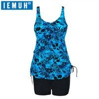 IEMUH New One Piece Swimsuit Women Plus Size Dress 6XL 10XL Floral Dot Backless Swimwear Beach Bathing Suits Plus Size Underwire