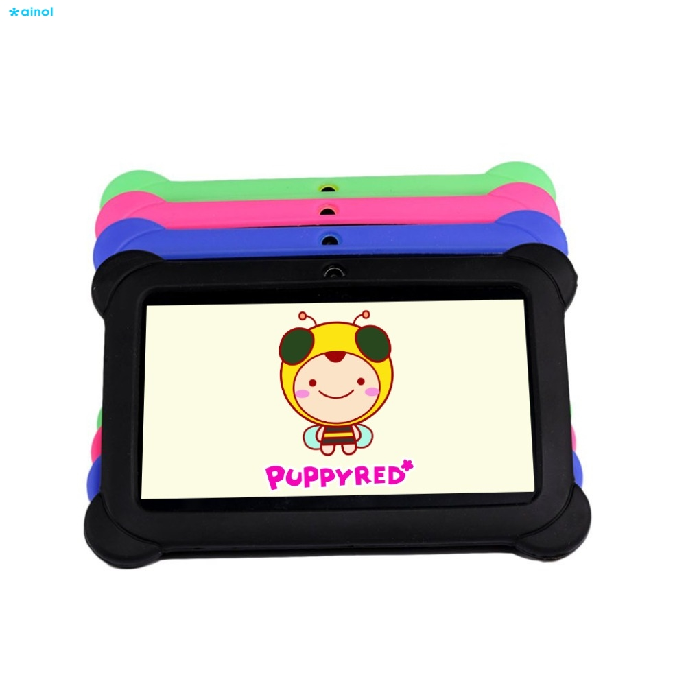 Ainol 7 inch Kids Tablets pad 8GB Android 4.4 Quad Core Dual Camera 1024*600 Tablet PC Kids Tablet With Silicone Cover Best gift ainol ax7 cpu mt8392 1gb ainol ax7 tablet phablet 7
