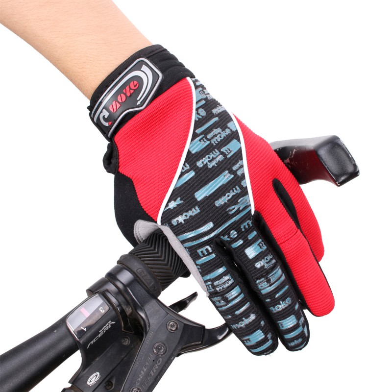 Women&Men Anti-Slip Bike Cycling Riding Gloves Breathable Outdoor Skiing Motorcycle Motorbike Full Finger Warm Bicycle Gloves