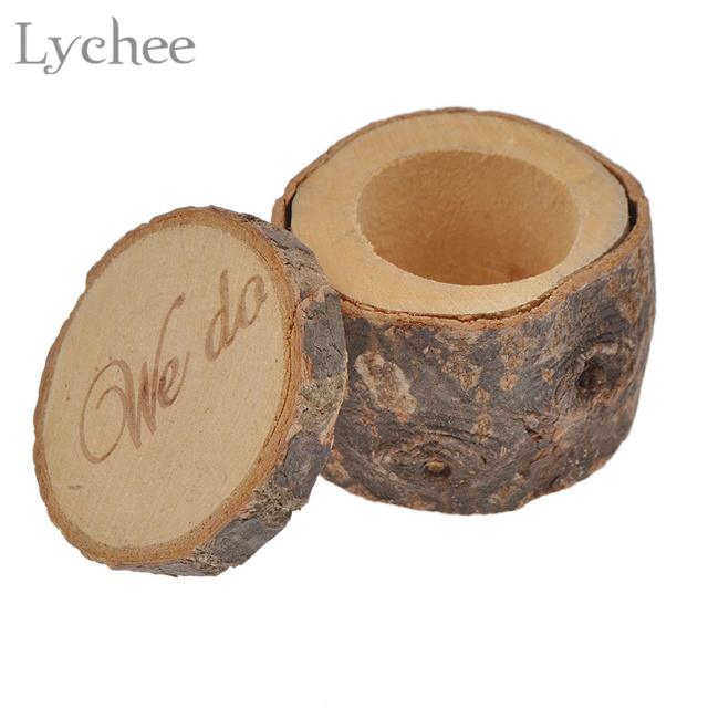 lychee retro wedding ring holder wood ring pillow box storage vintage wedding decoration props for wedding - Wedding Ring Holder