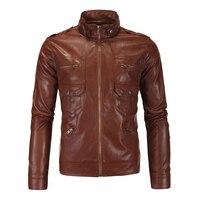 HEROBIKER Vintage Retro Motorcycle Jackets Men PU Leather Jacket Racing Biker Punk Keep Warm Windproof Moto Jacket Size M 5XL