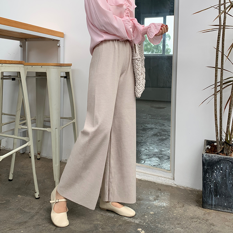 2019 Casual Loose   Pants   Women Elastic High Waist   Wide     Leg     Pants   korean streetwear Spring Summer trousers women pantalon femme