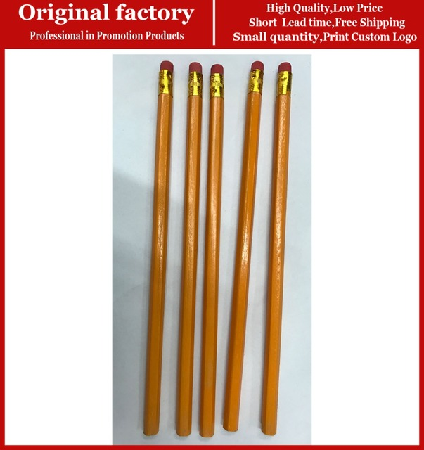 Us 178 0 Fashion Yellow Wooden Black Lead Stationary Pencil High Quality Personalized Pencils Black Graphite Pencil In Standard Pencils From Office
