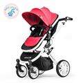 Russia free shipping strollers can sit or lie deck shock summer high landscape stroller baby child