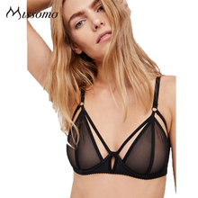 2019 sexy mesh bra Summer womens hollow translucent adjustable shoulder strap underwear