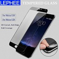 Lephee meizu u10 u20 meizu película 3d curvo de vidrio templado completo cubierta de la pantalla protector de fibra de carbono borde suave meizu u10 u20 película