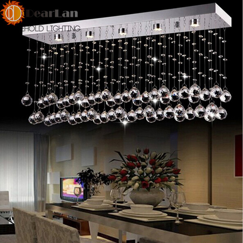 Modern Fashional Atractive K9 Crystal Pendant Lamps With 4 LED Bulbs Included Nice Looking Pendant Light For Living Room/Bedroom  fashional modern black