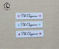 96 Custom Name Tags Custom Logo Labels Iron On Brand Labels Sew On Name Tags For