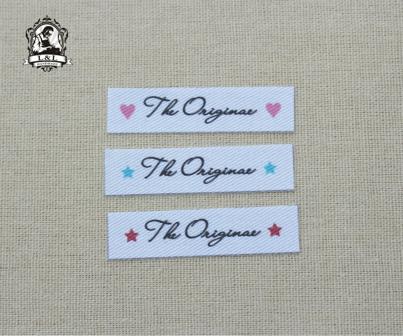 US $14 98 |96 Custom Name Tags, Custom logo labels, iron on brand labels,  sew on name tags for children's clothing,Custom Colour/Font-in Garment