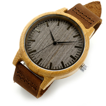 BOBO BIRD V-A18 Luxury Brand Wood Watches Men Casual Leather Women Bamboo Wristwatch Relogio Masculino Hombre 2016