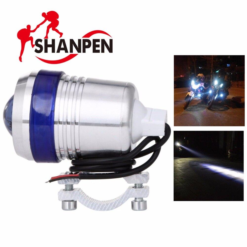 LED Motorcycle Headlight 30W 12V U3 Angel Eye Driving lamp Fog Fights with lens Spotlights Offroad Car стоимость