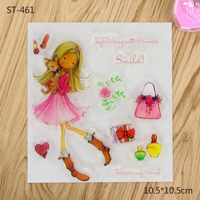 Beautiful and Kind Girl Transparent Clear Stamp For DIY Scrapbooking Decorative card making craft Fun Decoration Supplies
