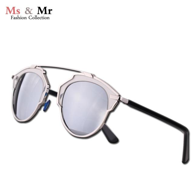 Cat de ojos de calidad superior real marco de metal espejo lente gafas de sol polarizadas diseñador de la marca mujeres. gafas de sol feminino.