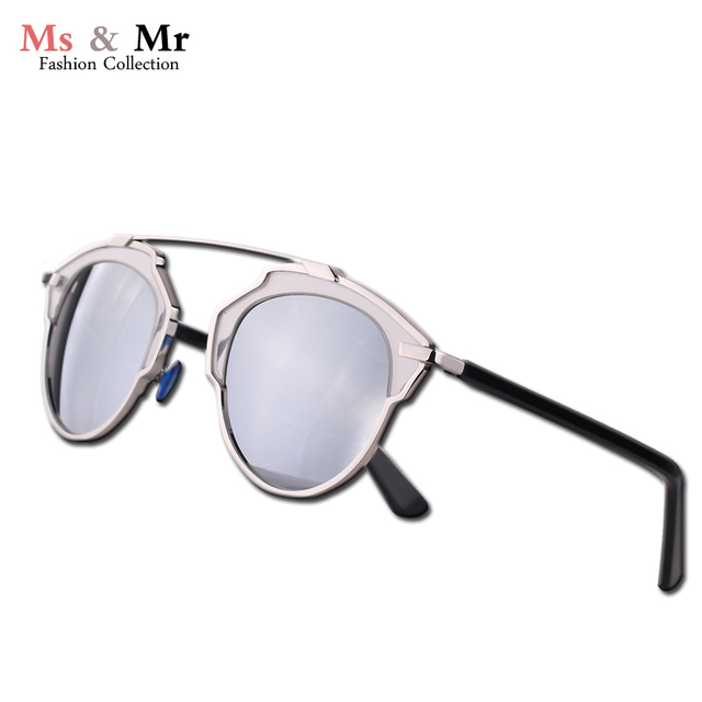 Top quality cat eye real metal frame mirror lens polarized sunglasses women brand designer.oculos de sol feminino.