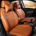 Nuevo estilo de Lujo De Cuero Dedicado Fundas de Asiento de Coche cubiertas Frontal y Posterior del coche para RENAULT Duster Megane Scenic Clio Laguna Espace