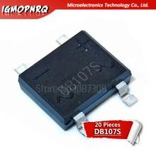 1A 20pcs DB107S DB107 2A 1000V Retificadores de Ponte 1000V original novo