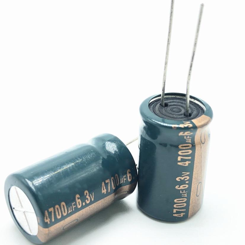 5pcs/lot 6.3V 4700UF 13*20 High Frequency Low Impedance Aluminum Electrolytic Capacitor 4700uf 6.3v 6.3v4700uf 20%