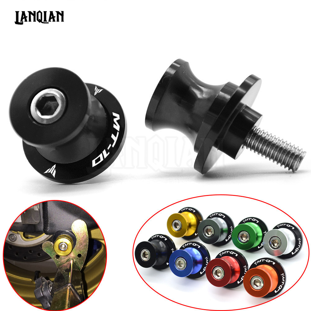 For YAMAHA MT10 MT-10 MT 10 Arm Stand Screws CNC Aluminum Motorcycle Accessories Swingarm Spools Slider 6mm Swing 2016 2017 2018 yamaha dbr15