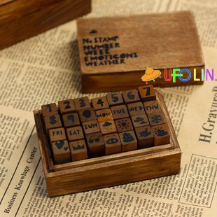 c31-91 Free Shipping/New letter and number wood stamp set/DIY stamp/wood Box/gift stamp/Wholesale