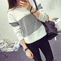 Outono Geométrica Impresso Hoodies das Mulheres de Estilo de Moda de Nova Solto Pullovers Harajuku Ocasional Grade Moletom HO8328
