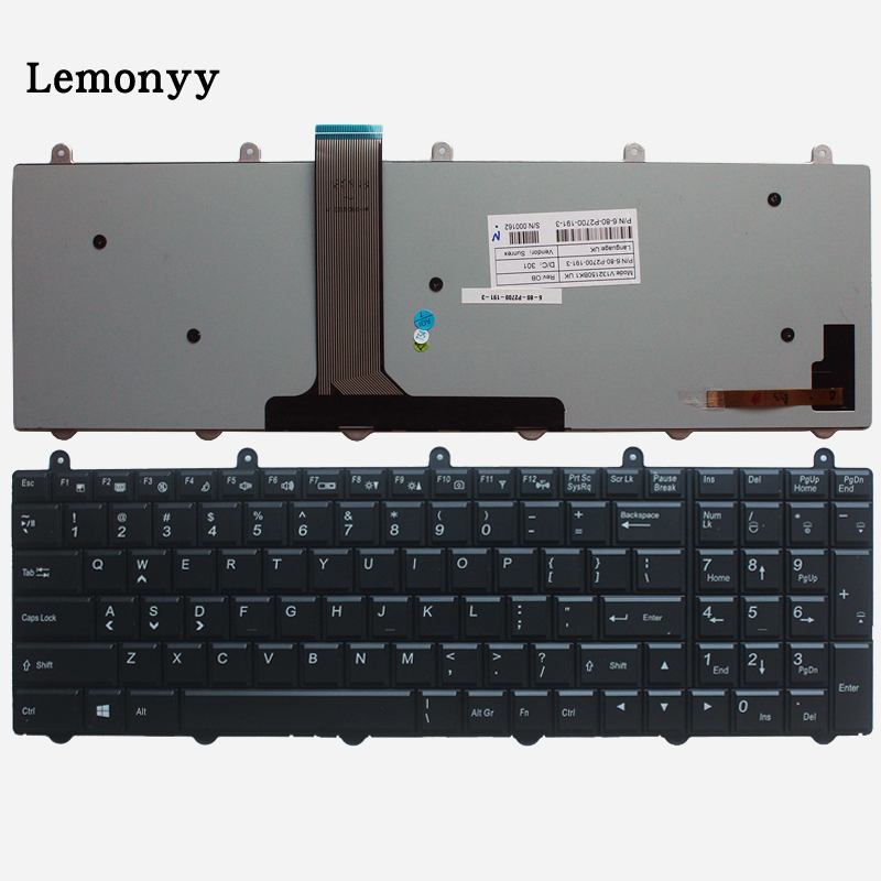 New US Backlit Keyboard For Clevo P150EM P170EM P370EM P570WM P170sm P150sm P370sm P375SM P270WM Black English Laptop Keyboard