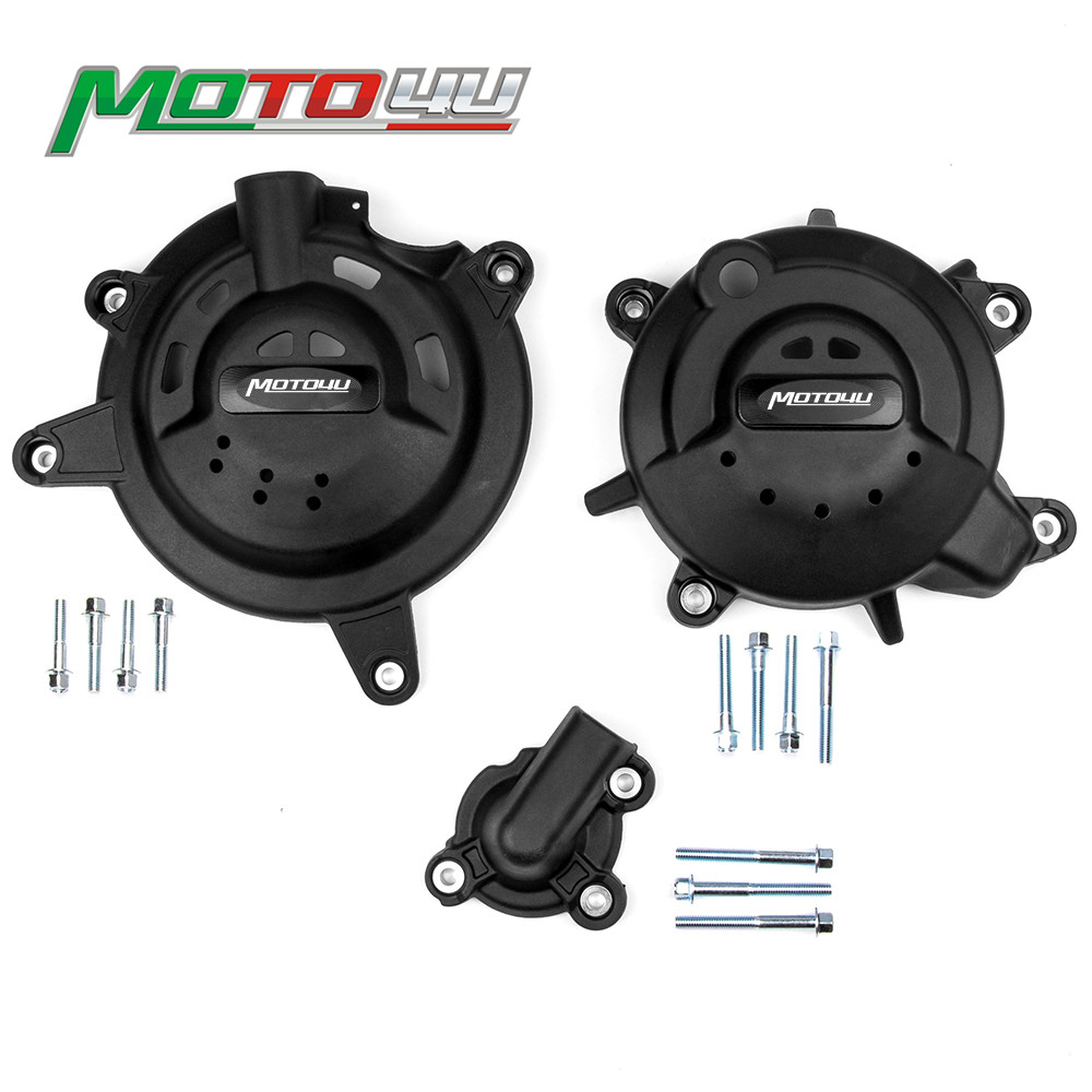 New Ninja400 Motorcycle accessories Engine Cover Protector Guard Crash 1 Set with Bolts For Kawasaki NINJA