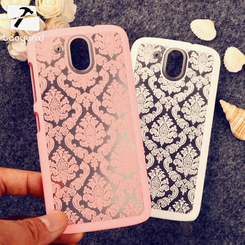 Cover Case For HTC Desire 526 Damask Vintage Flower Plastic Housing Bag Shell 526G+ 526G 326 326G Case For HTC Desire 526 Cover