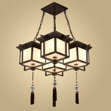 Neue Chinesische Pendelleuchten Einfache Moderne Retro Wohnzimmer Lampe Eisen Kunst Studie Schlafzimmer Esszimmer Lampen Und Lat