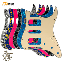 где купить Pleroo Guitar Accessories 11 Screw Hole Pickguard for Fender Stratocaster USA/Mexican Standard ST HSH Guitarra Scratch Plate по лучшей цене