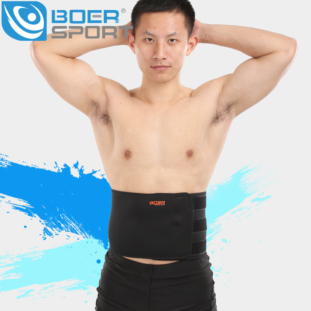 BOER Sports girdle Fitness Breathable Protect the waist Basketball Running Weight Lifting Pressurize waist Protection support