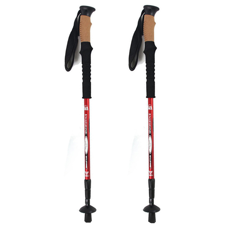 Anti Shock Vandring, Vandring, Trekking Trail Polakker for Nordic Walking Teleskopisk Skandinavisk Walking Sticks Vandring Utstyr