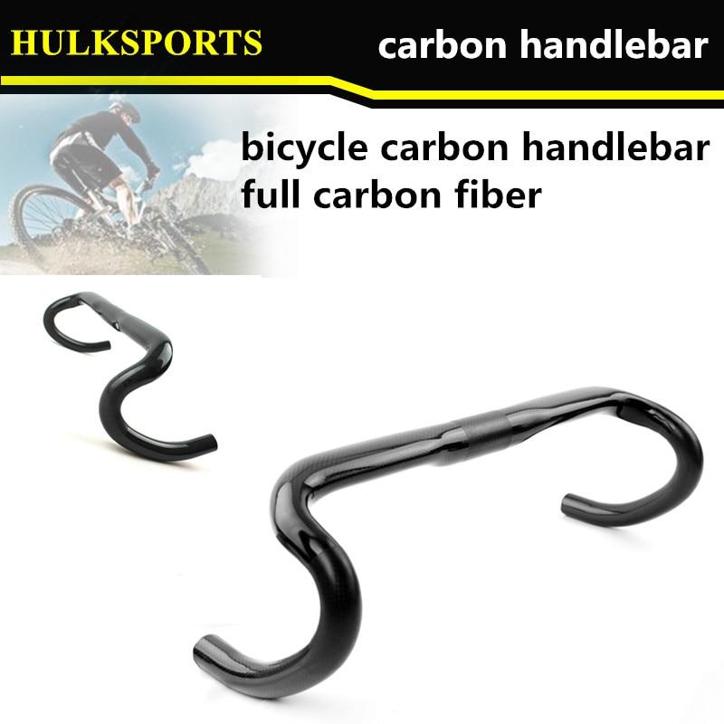 HK-CHB-02 New design carbon handlebar road bicycle intergrated handlebar in factory sales 400/420/440mm size road bike handlebar