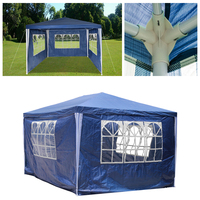 3X4m White Blue marquee Tent Rain Shelter Outdoor Event Garden Gazebo Tent Canopy Waterproof Awning Party Wedding outdoor