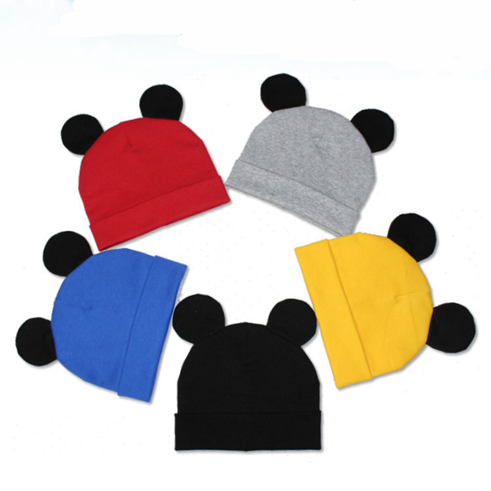 2018 Hot Mickey Ear Hats Children Snapback Caps Baseball Cap with Ears Spring Summer Autumn Fashion Baby Cloths hats Caps Y0193 2017 new cute acrylic kid hats of unisex character pattern caps for children spring knitted warm cap with horn 170424 x124