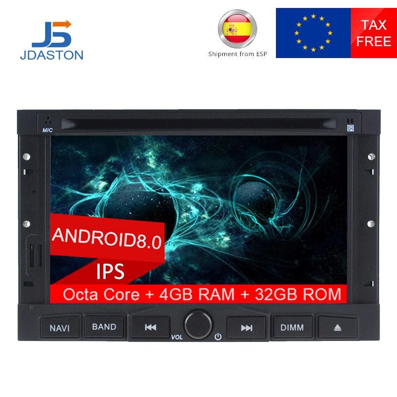 JDASTON 2 DIN восемь ядер 4G + 32 г Android 8,0 dvd плеер автомобиля для PEUGEOT 3008 5008 WI FI мультимедиа в тире gps радио рулевого колеса
