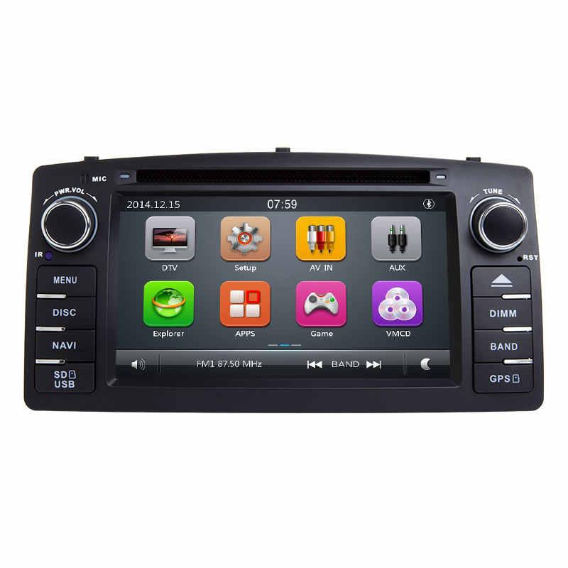 Josmile 2 Din Car DVD Player For Toyota Corolla E120 BYD F3 2000 2005 2006 Radio Multimedia Head Unit Stereo GPSNavigation Audio