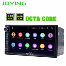 JOYING 2 Din Android 8.1.0 автомобильный стерео Автомагнитола 7 »4 Гб ОЗУ 64 Гб ПЗУ Восьмиядерный HD экран кассета радио carplay DSP видео выход