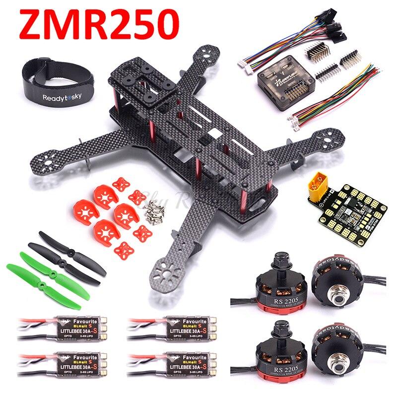 ZMR250 250 Carbon Fiber F3 Acro Flight Controller RS2205 2300KV Motor 12A / 20A BLHeli-s / LittleBee 30A ESC For QAV250 RC Plane