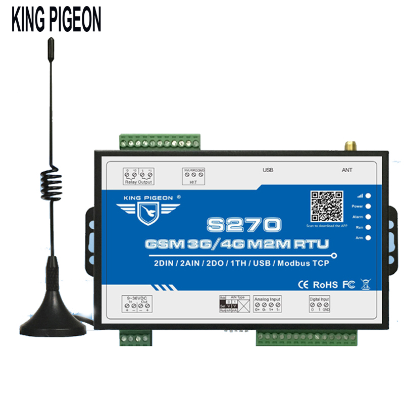 Senza fili Modbus M2M RTU Remote Sistema di Allarme di Monitoraggio per Gru di Carbone Sismica SMS Comunicazione BTS di Accesso di Controllo del Relè S270