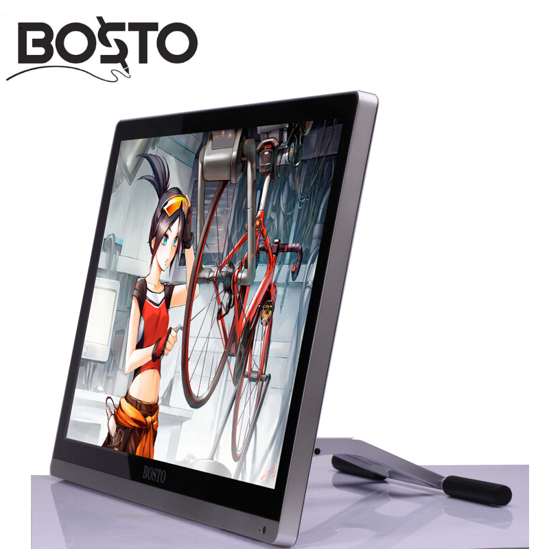 Image 5 - BOSTO 22UMini 21.5in Professional Full HD Art Graphics Tablet Monitor to Draw 8192 Levels Pen and Artist Drawing Glove and Stand-in Digital Tablets from Computer & Office