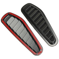 MAYITR 2pcs ABS Plastic Car Air Flow Intake Hood Scoop Turbo Bonnet Vent Cover Fender Stickers
