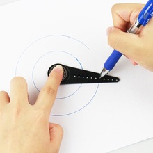 Drawing Curved Drawing Ruler Mini Compass Protractor Combo Patterns for Artists Architects Student 40mm-140mm 40mm-200mm